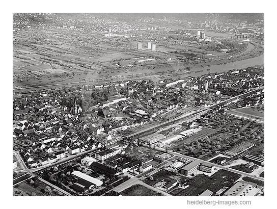 Archiv-Nr. L10_431 / Wieblingen 1962 auf der Luft