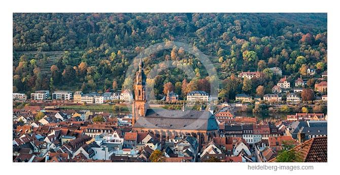Archiv-Nr. hc2016150 / Blick über die Heiliggeistkirche auf den Philosophenweg