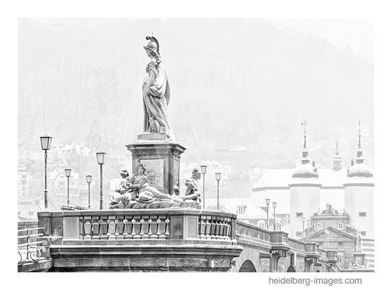 Archiv-Nr. h2013107 | Heidelberg, Minerva-Denkmal im Schnee
