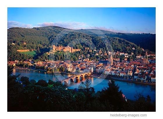 Archiv-Nr. hc95123 | Traumhafter Blick auf die Heidelberger Altstadt mit Schloss und Königstuhl