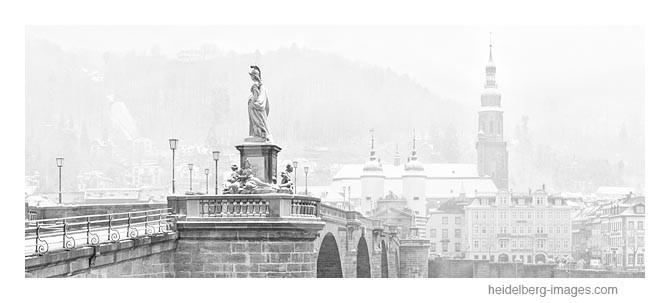 Archiv-Nr. h2013108 | Heidelberg, Alte Brücke im Winter