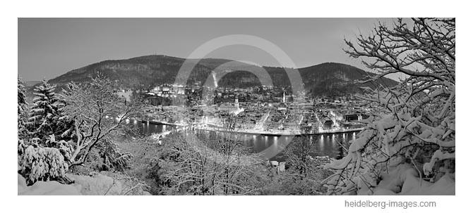 Archiv-Nr. h2010185 / winterliches Heidelberg bei Nacht