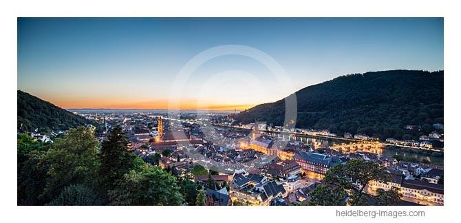 Archiv-Nr. hc2013140 | Heidelberger Altstadt, Neckar und Rheinebene im Sonnenuntergang