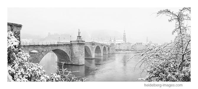 Archiv-Nr. h2013109 | Heidelberg, Alte Brücke im Winter