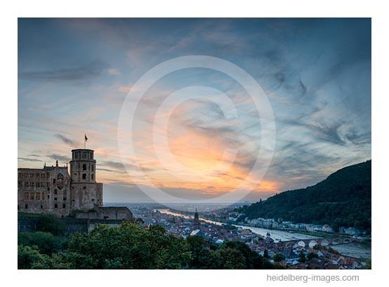 Archiv-Nr. hc2014161 | Heidelberg, Schloss u. Altstadt im Sonnenuntergang