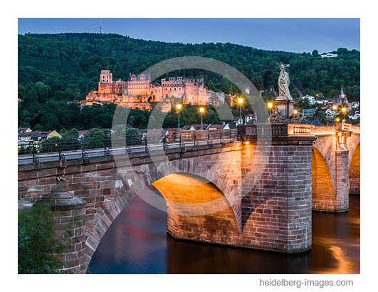 Archiv-Nr. hc2012124 | Alte Brücke in der sommerlichen Abenddämmerung