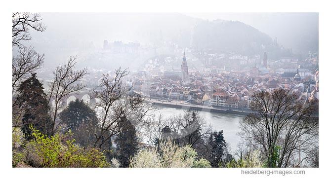 Archiv-Nr. hc2019110 | Morgenstimmung auf der Heidelberger Altstadt vom Philosophenweg