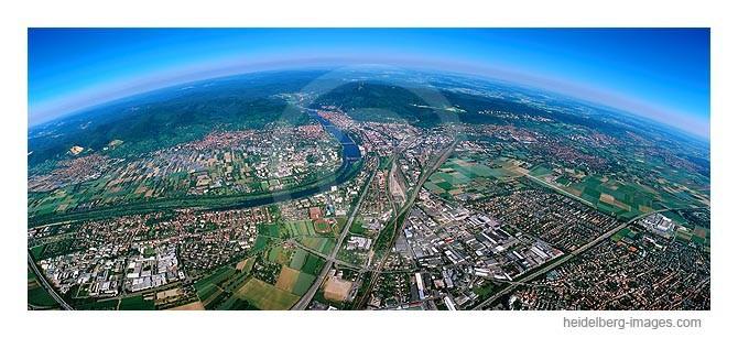 Archiv-Nr. lc10_6815 | Heidelberg Panorama Richtung Rheinebene