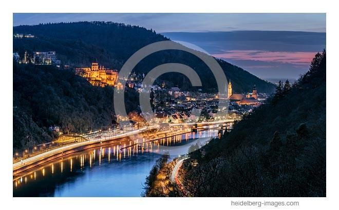 Archiv-Nr. hc2014119 | Blick vom Haarlasweg auf das nächtliche Heidelberg