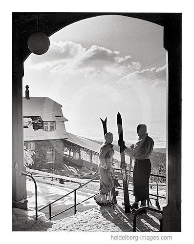 Archiv-Nr. h13 / Skifahrer auf dem Königstuhl