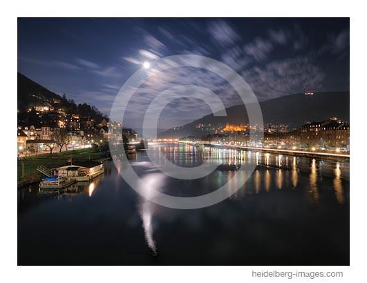 Archiv-Nr. hc2020190 | Mondschein - Blick von der Theodor Heuss Brücke