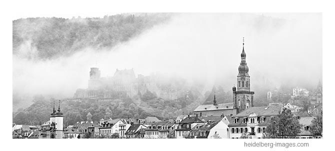 Archiv-Nr. h2013155 | Heidelberg, Morgennebel über dem Schloss