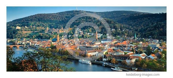 Archiv-Nr. hc2012175 / Heidelberger Altstadt, Schloss u. Königstuhl