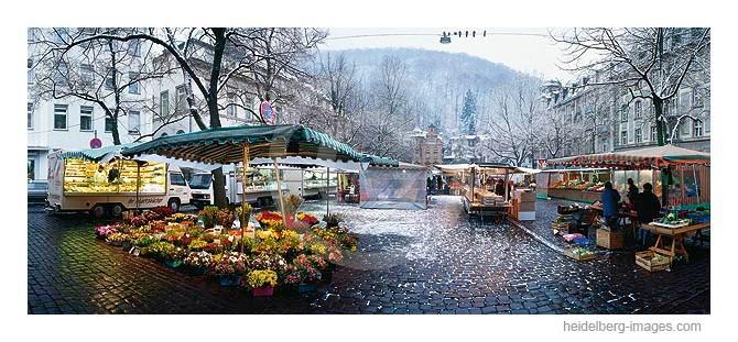 Archiv-Nr. hc96106 | Verschneiter Wochenmarkt auf dem Friedrich-Ebert-Platz