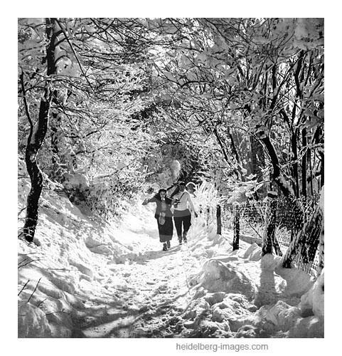 Archiv-Nr. h13/4 Schneevergnügen am Königstuhl