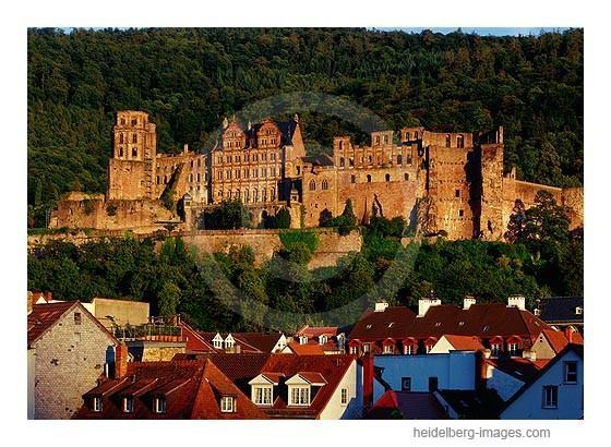 Archiv-Nr. hc2006153 / Heidelberger Schloss und Altstadtdächer im Abendlicht