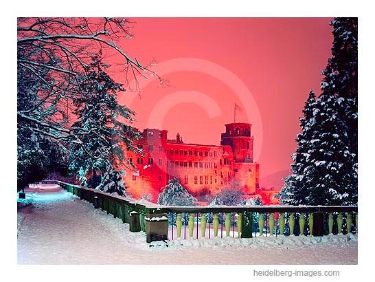 Archiv-Nr. hc91107 / Schlossterrasse u. Schloss im Winter