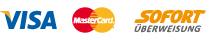 Zahlung per Visa- u. Mastercard Sofortüberweisung Vorkasse