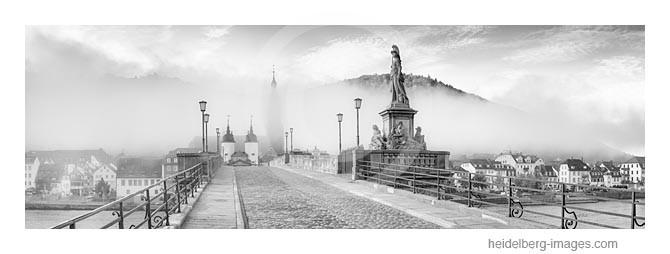 Archiv-Nr. h2014159 | Heidelberg, Alte Brücke im Morgennebel
