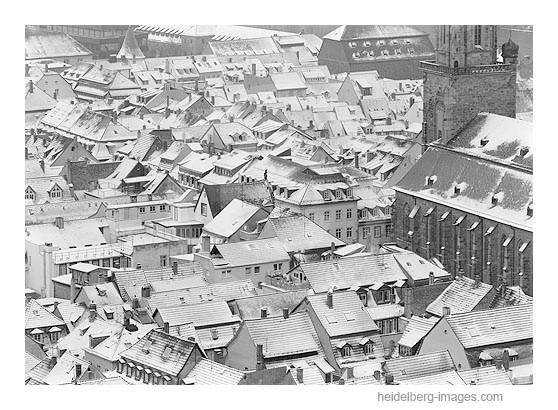 Archiv-Nr. h96144 | Heidelberg, verschneite Altstadtdächer