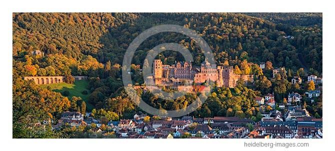 Archiv-Nr. hc2013160 / Heidelberger Schloss im Sonnenuntergang