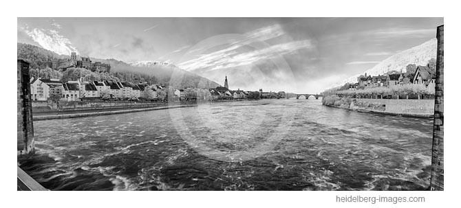 Archiv-Nr. h2014167 / Heidelberg, Blick vom Stauwehr auf die Altstadt u. Schloss