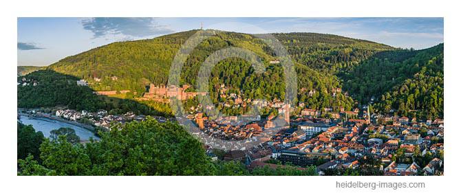Archiv-Nr. hc2012146 | Blick von der Bismarksäule auf Heidelberg im Abendlicht