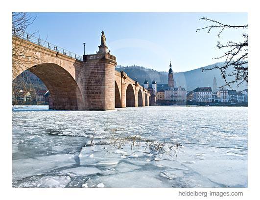 Archiv-Nr. hc2012108 | vereister Neckar unter der Alten Brücke