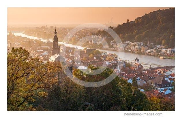 Archiv-Nr. hc2014174 | Heidelberg, Altstadt im herbstlichen Abendlicht