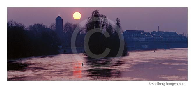 Archiv-Nr. hc2003123 | Neckarinsel im Sonnenuntergang
