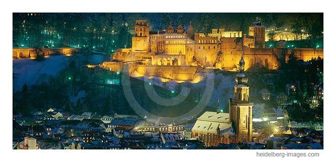 Archiv-Nr. hc2003106 | verschneite Altstadt mit Schloss und Heiliggeistkirche