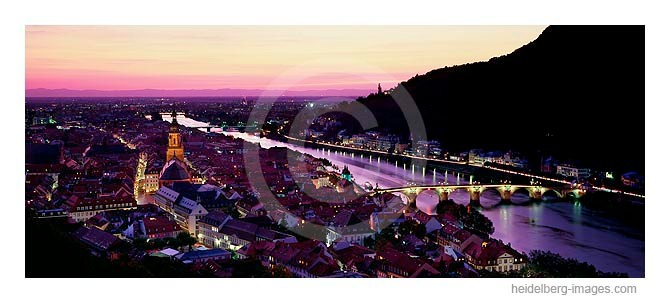 Archiv-Nr. hc2009115 / Heidelberg und Neckar im Abendrot