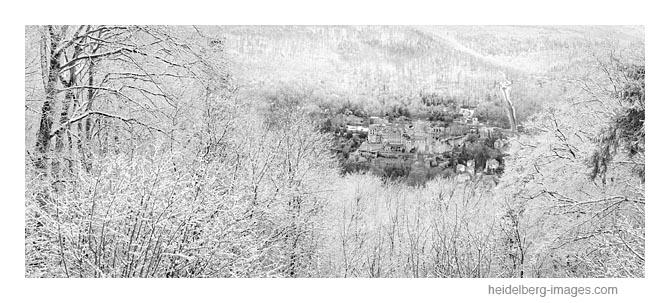 Archiv-Nr. h2018101    'Insel im Schnee', Heidelberger Schloss