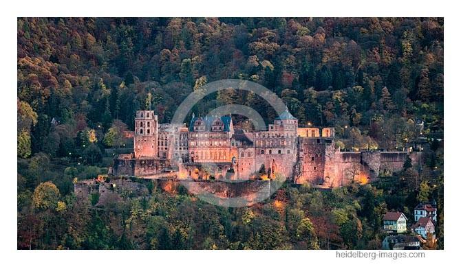 Archiv-Nr. hc2015168 / Herbstwald und Heidelberger Schloss