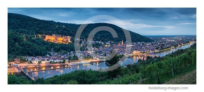 Archiv-Nr. hc2014151 | Blick über die Weinberge auf die Heidelberger Altstadt u. Schloss