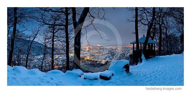 Archiv-Nr. hc2010101 / Heidelbergansicht vom Fuchsrondell im Winter