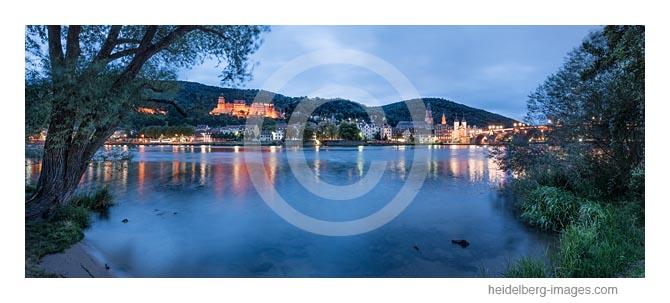 Archiv-Nr. hc2017132 | Neckarufer in der Abenddämmerung