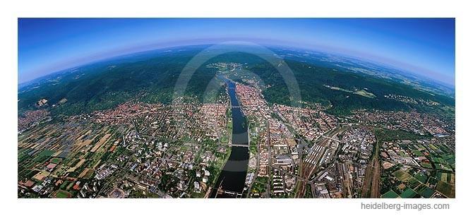 Archiv-Nr. lc 10-6816 | Luftbild von Heidelberg mit Blick Richtung Osten