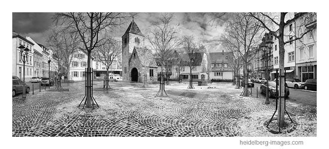 Archiv-Nr. h2015111 | Marktplatz in Neuenheim mit Neuschnee