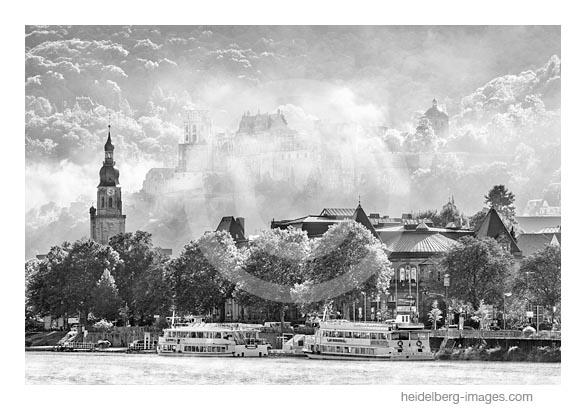 Archiv-Nr. h2017138 | Morgenstimmung, Blick auf Stadthalle und Schloss