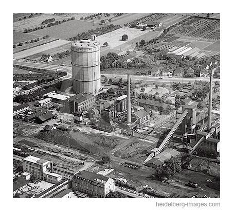 Archiv-Nr. L10_307 / Luftaufnahme vom Gaskessel 1961