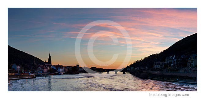 Archiv-Nr. hc2013117 / Neckar und Alte Brücke im Sonnenuntergang