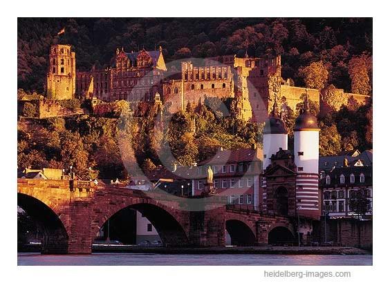 Archiv-Nr. hc98126 | Romantische Ansicht der Alten Brück u. Schloss im Abendlicht