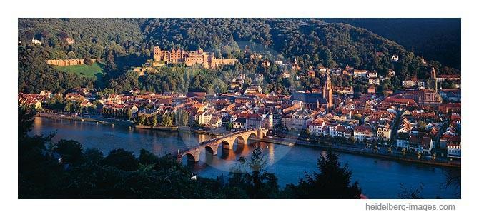 Archiv-Nr. hc95123 | Heidelberger Altstadt im Abendlicht