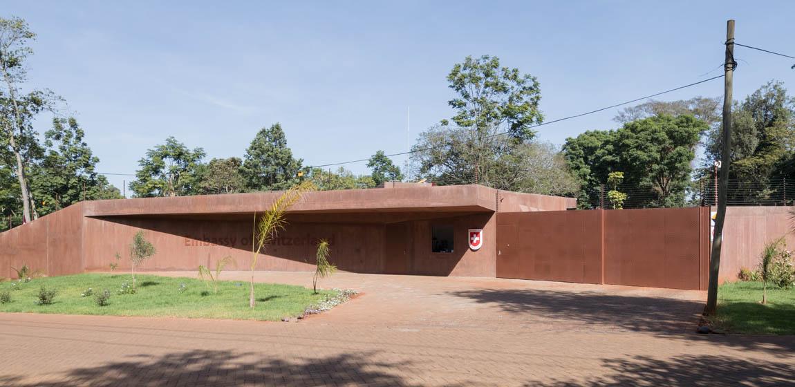 Schweizer Botschaft Nairobi - Eingangstor (Architekt: ro.ma roeoesli & maeder gmbh Luzern)
