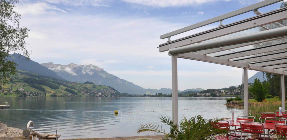 Strandbad in Sachseln - Sitzplatzüberdachung und Pergola