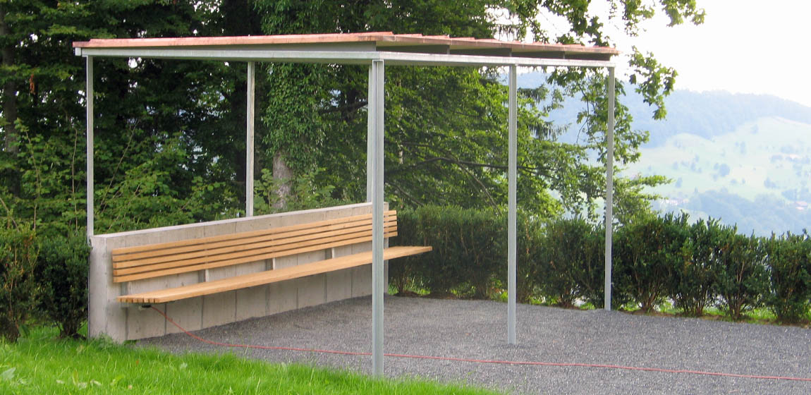 Kaplanei Hergiswald in Kriens - Pergola und Bankkonsolen