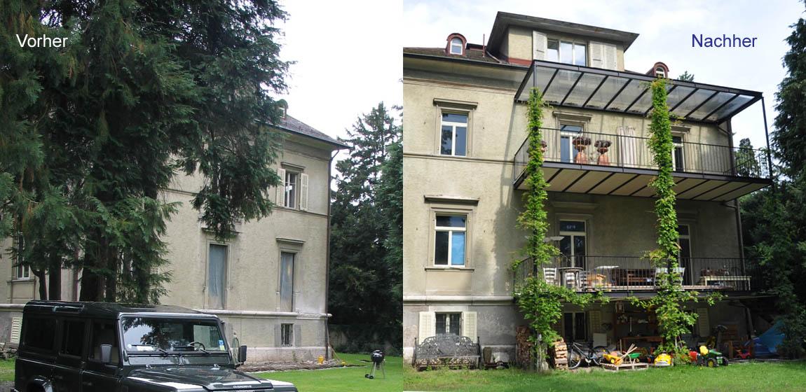 Privatobjekt in Luzern - Anbau Balkon