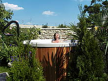 romantischer Hot tub whirlpool
