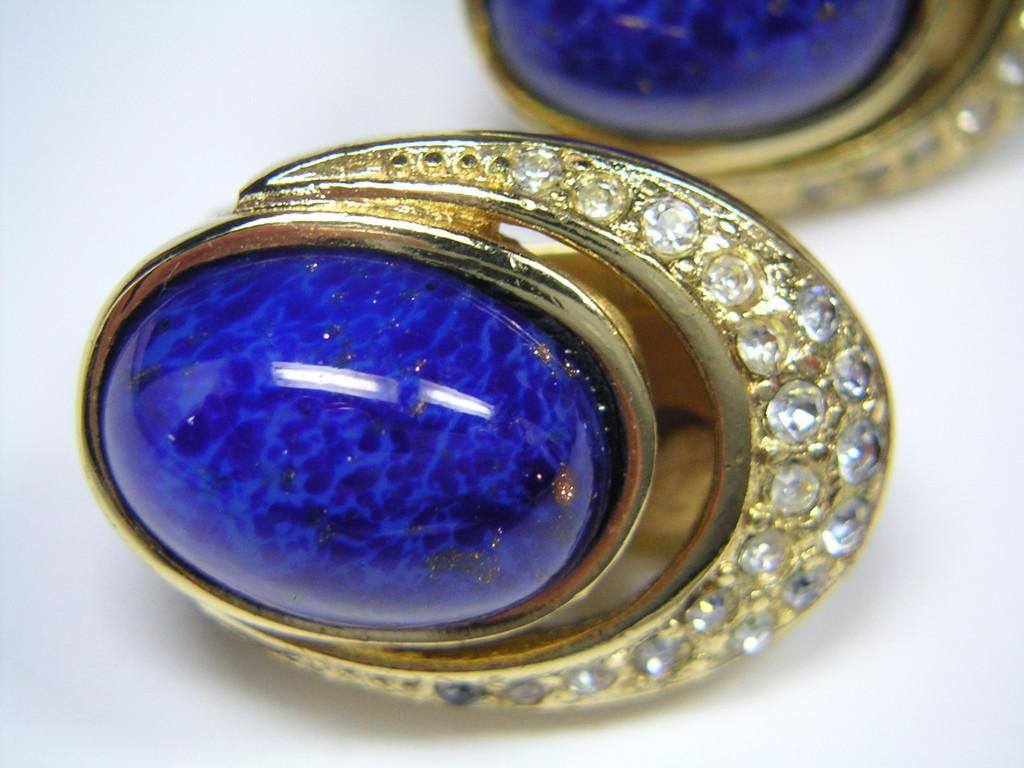 Armband mit lapis lazuli-farbiger Glasimitation